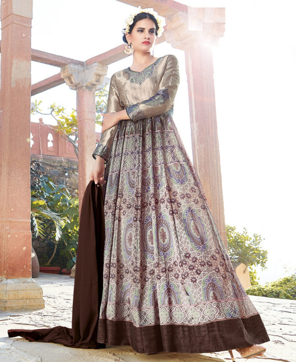 Designer party wear long gowns for women 2018