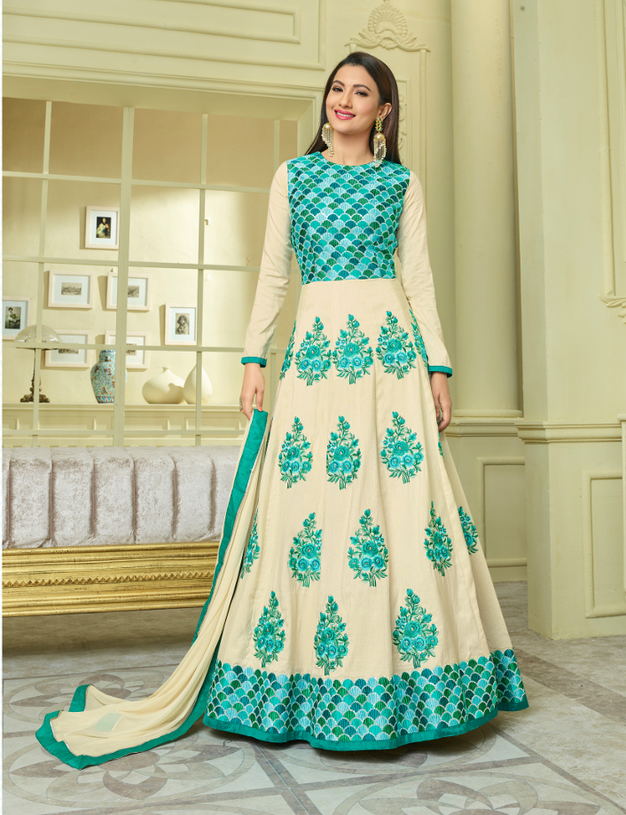 Shop Designer party wear suits for women at Shahbeez Abids Hyderabad.