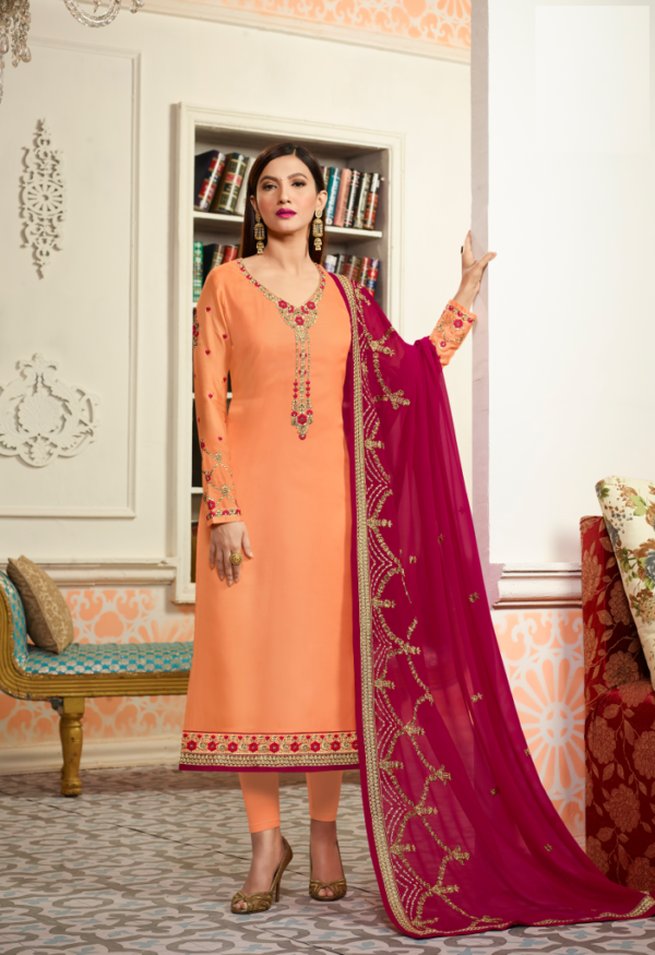 Buy latest designer straight churidar suits for women in Abids, Hyderabad