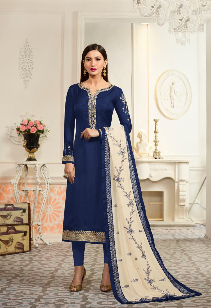 Buy latest Straight cut Churidar suits for women in Abids, Hyderabad
