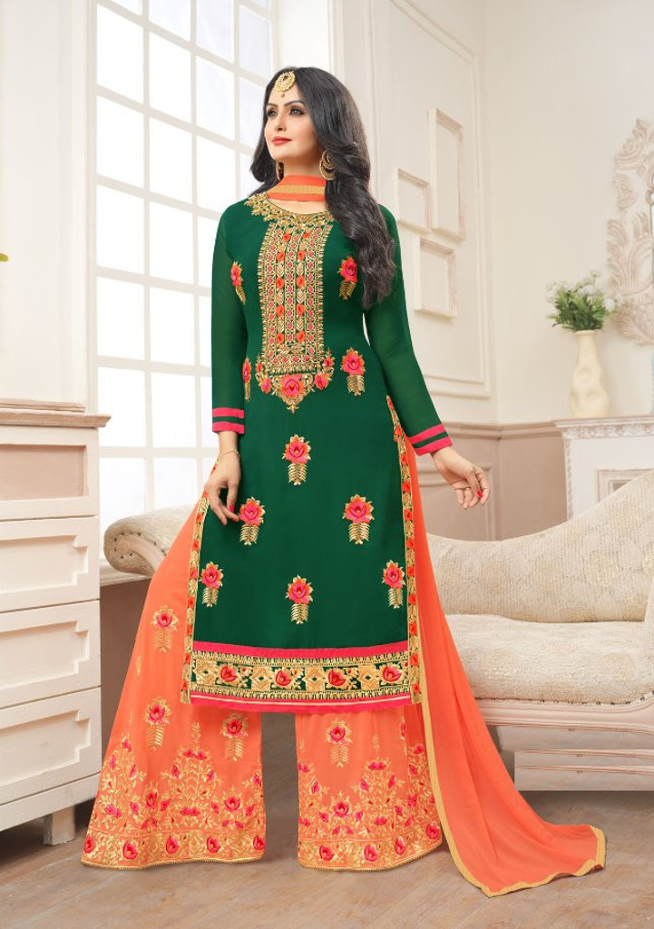 ce1270020a Buy latest sharara style salwar kameez suits in Abids, Hyderabad | Shahbeez