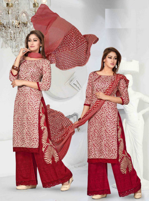Walk out in style by adorning this attractive Salwar Plazo suit from Shahbeez, Abids.
