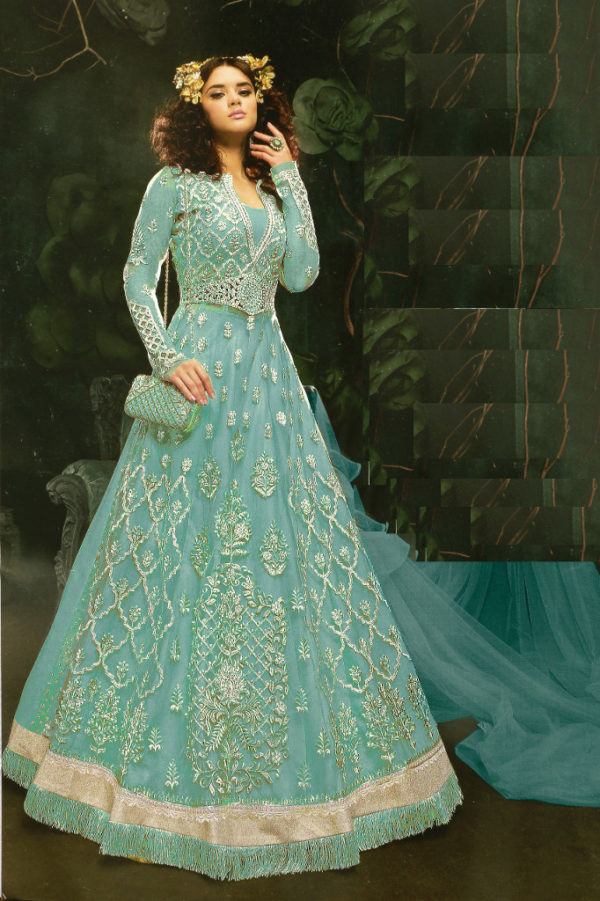 Buy latest simple and stylish long frock from Shahbeez, Abids, Hyderabad