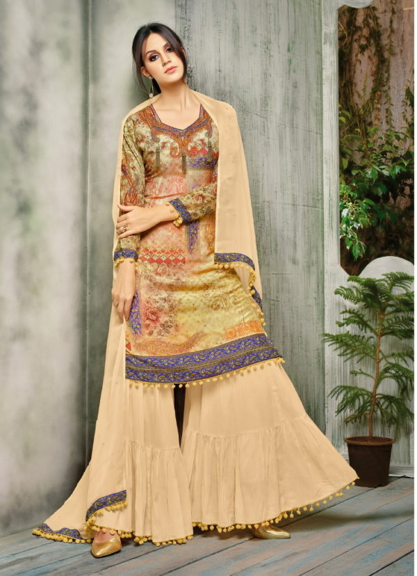 shop latest stylish and trendy Gharara suit collection at Shahbeez, Abids, Hyderabad