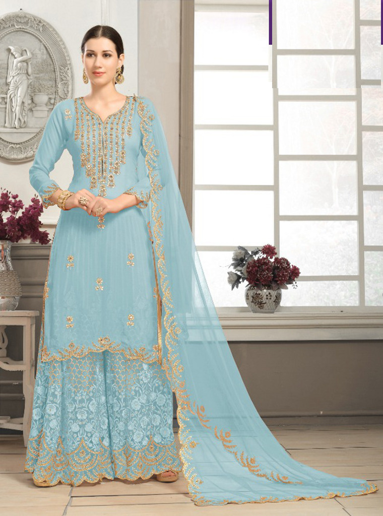 1401d34ea0 Latest Plazo salwar suits for women available at Shahbeez, Abids, Hyderabad