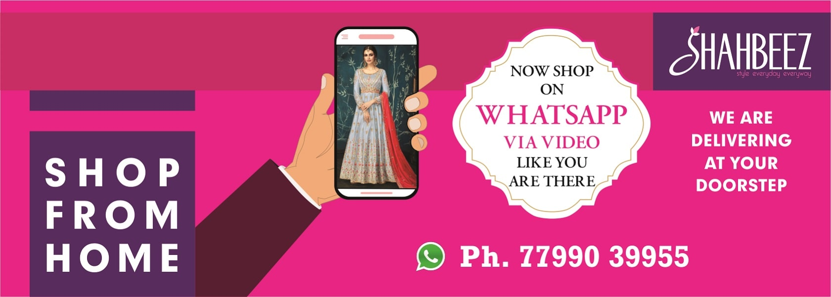 shop womens wear clothing via whatsapp video call